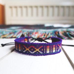 Jewelry - ✧3/$12✧ Purple/Orange Hues Boho Woven Bracelet